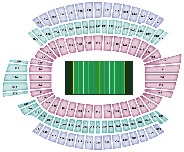 Cincinnati Bengals Seating Chart for Paul Brown Stadium